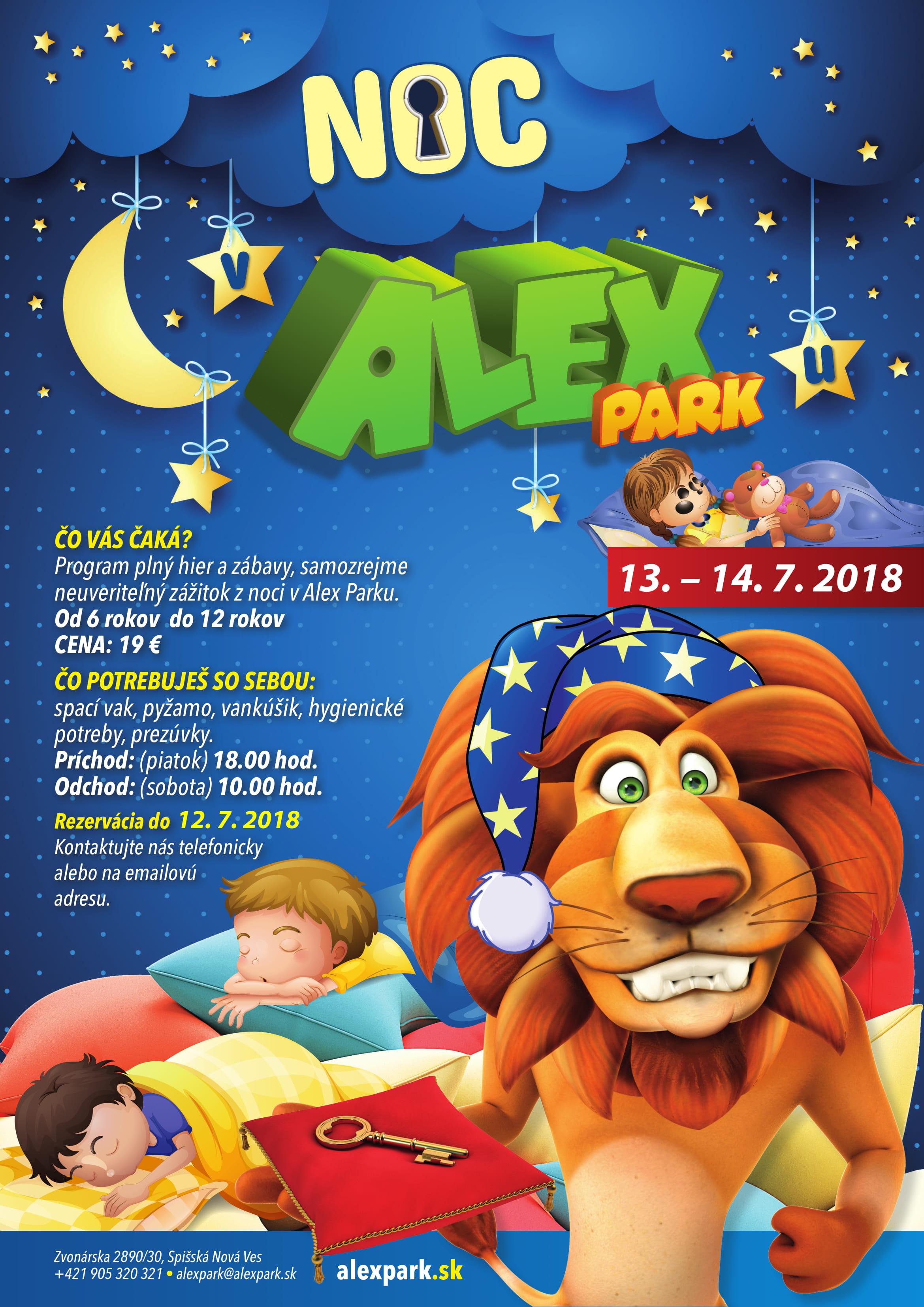 Noc v Alex Parku - interaktivne 13.7-1